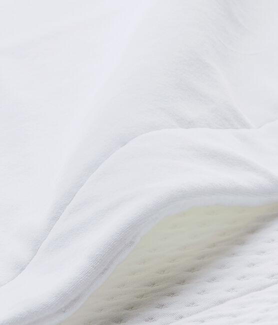 Unisex-Baby-Decke im Materialmix weiss Ecume