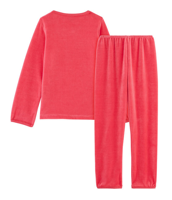Samt-Pyjama für Mädchen rot Signal