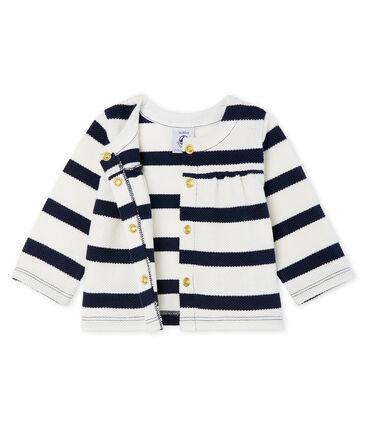 Baby-cardigan mit seemannsstreifen mädchen