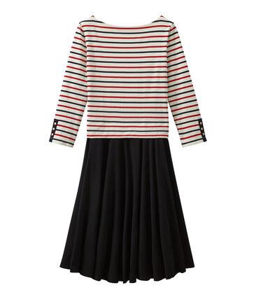 Damen-Kleid mit Trompe l'œil-Effekt