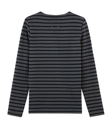 Unisex-Streifenshirt grau Maki / schwarz Black