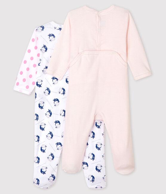 2er-Set Baby-Strampler in Rippstrick für Mädchen lot .