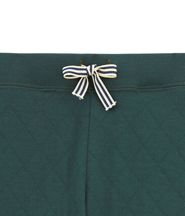 Gesteppte Jungen Hose aus gedoppeltem Jersey grün Sherwood