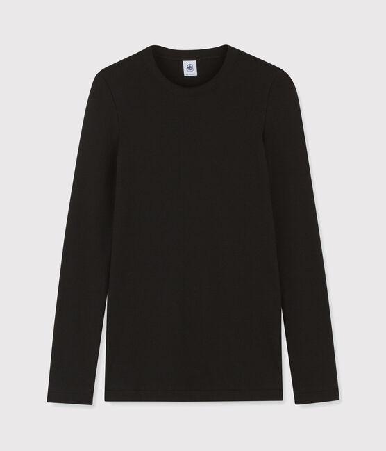 Damen-T-Shirt mit Rundhalsausschnitt schwarz Noir
