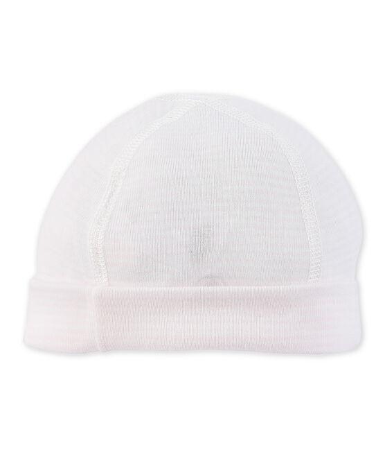 Baby-Mütze für Neugeborene mit Milleraies-Ringelmuster rosa Vienne / weiss Lait