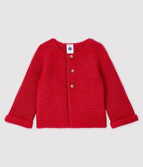 Baby-Cardigan für Mädchen aus Wolle und Baumwolle POPPY