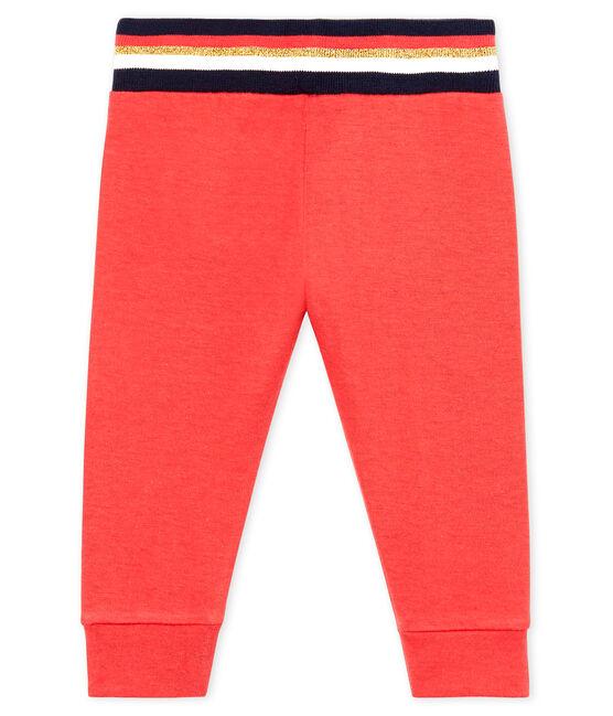 Baby-Hose aus Doppeljersey für Mädchen rot Signal