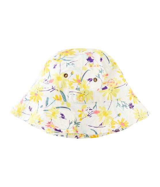 Kinderhut für Mädchen weiss Marshmallow / weiss Multico