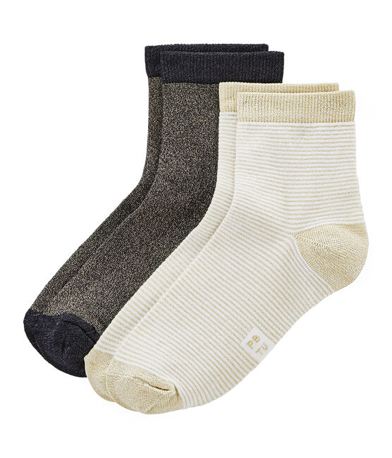 Set aus 2 paar socken damen lot .
