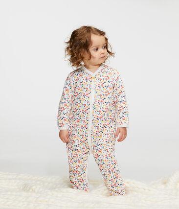 Baby-Strampler aus Nicki für Mädchen weiss Marshmallow / weiss Multico