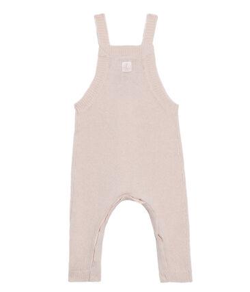 Lange Baby-Latzhose aus Woll-Nylon-Alpaka-Strick für Jungen.
