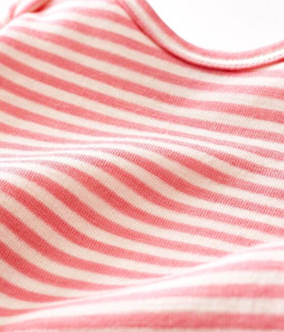 Langer Baby Jungen Body rosa Cheek / weiss Marshmallow