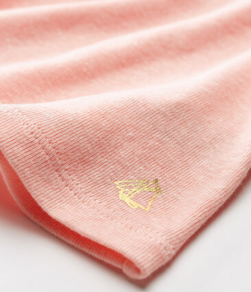Kurzärmelige baby-bluse aus baumwolle/leinen mädchen