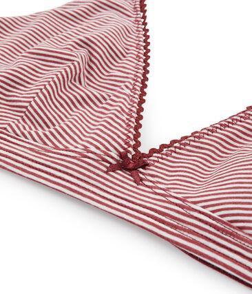 Triangel-BH für Damen rot Carmin / weiss Marshmallow