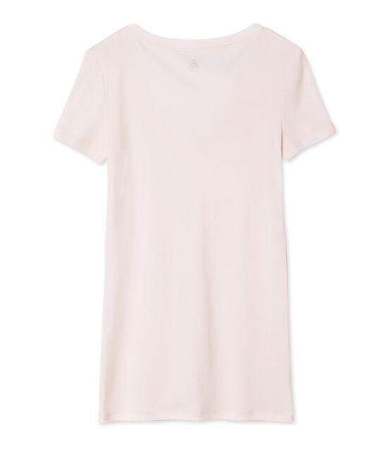 Kurzärmliges T-Shirt mit V-Ausschnitt für Damen FLEUR