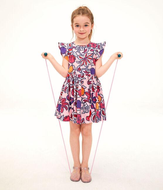 Kinder-Kleid für Mädchen rosa Patience / weiss Multico