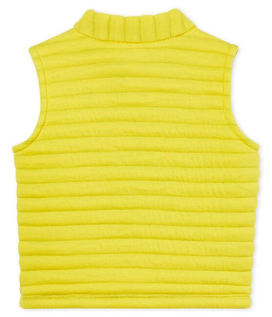 Ärmelloser baby-blouson aus gestepptem doppeljersey jungen gelb Shine