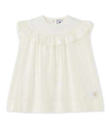 Festliches Baby-Mädchen-Kleid weiss Lait