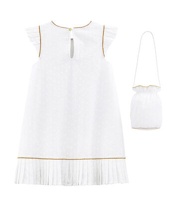 Kurzärmeliges Mädchen-Festtagskleid und Tasche