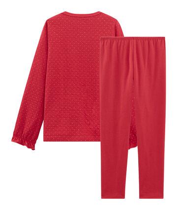 Pyjama aus Doppeljersey und Rippstrick für Mädchen rot Terkuit / gelb Or