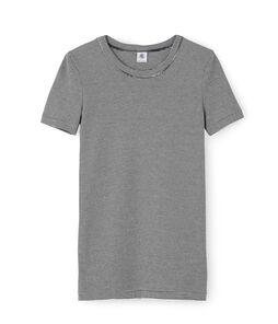 Emblematisches kurzärmliges T-Shirt für Damen blau Smoking / weiss Marshmallow