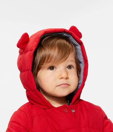 Baby-Jacke aus Mikrofaser für Mädchen rot Terkuit