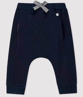 Fleece-Hose für Baby Jungen/Mädchen blau Smoking