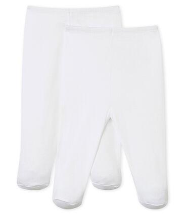 2er-Set Baby-Hosen mit Füßen weiss Ecume