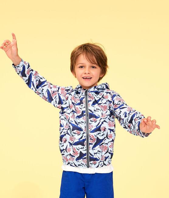 Anti-UV-Kinder-Windjacke USF 50+ für Jungen weiss Marshmallow / weiss Multico