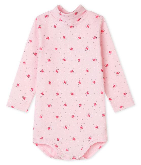 Langärmeliger Baby-Body mit Rollkragen, Unisex VIENNE/CUPCAKE