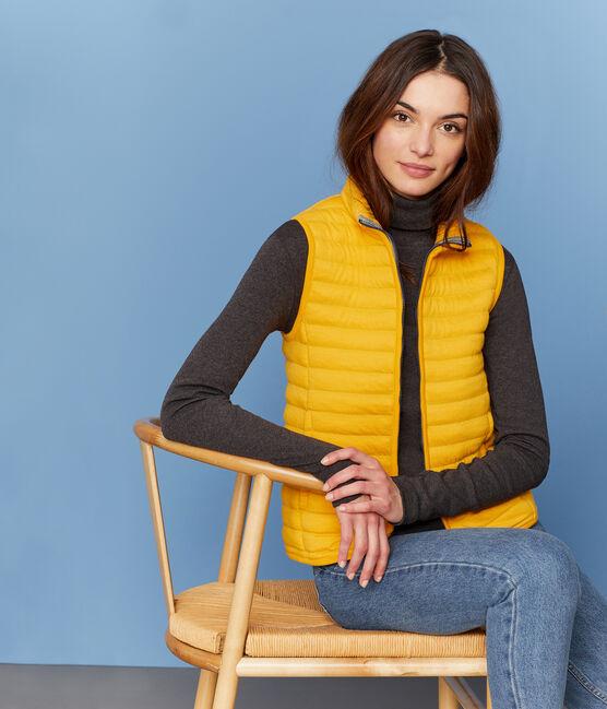 Ärmellose Daunenjacke aus Doppeljersey für Damen gelb Boudor