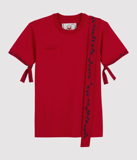T-Shirt für Damen/Herren Christoph Rumpf x Petit Bateau rot Terkuit