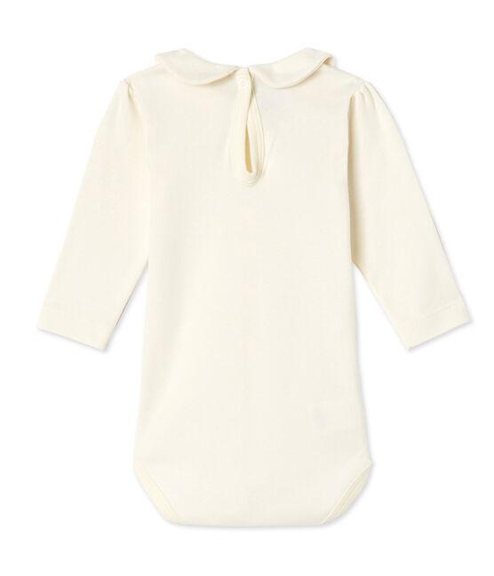 Baby-Mädchen-Body mit Bubi-Kragen beige Coquille