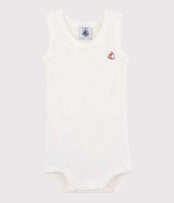 Ärmelloser Baby-Body Mädchen/Jungen weiss Marshmallow