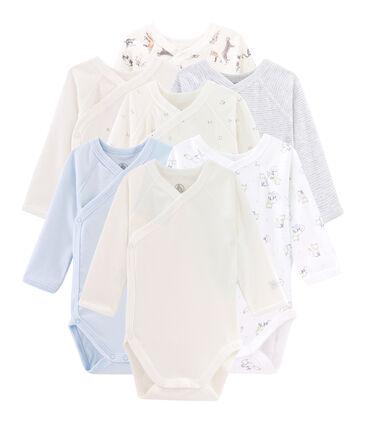 Überraschungsbeutel mit 7 langärmeligen Neugeborenen-Bodys für Baby Jungen lot .