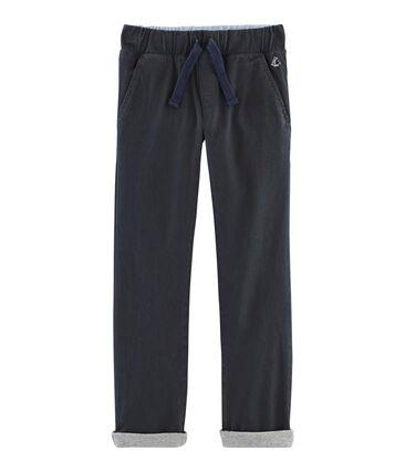 Warme gefütterte Hose für Jungen grau Capecod