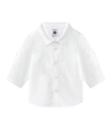 Baby-Hemd mit umschlagbaren Ärmeln für Jungen weiss Ecume