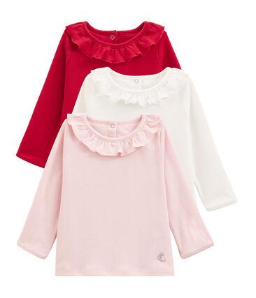 Überraschungsset mit drei Langarmshirts für Baby Mädchen lot .