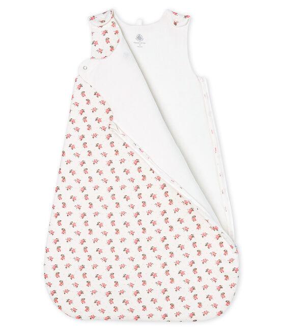 Babyschlafsack aus Velours weiss Marshmallow / weiss Multico