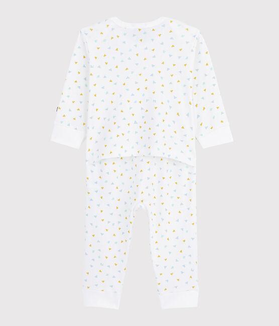 Baby-Strampler aus Baumwolle ohne Druckknöpfe Konfetti weiss Marshmallow / weiss Multico