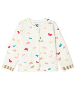 Baby-Cardigan aus gestepptem Doppeljersey für Mädchen weiss Marshmallow / weiss Multico