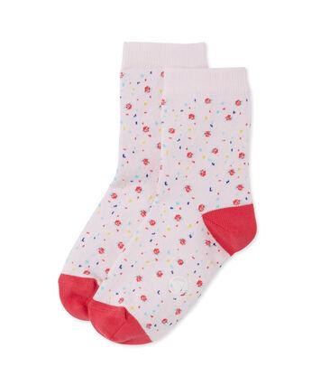 Geblümte Mädchen-Socken