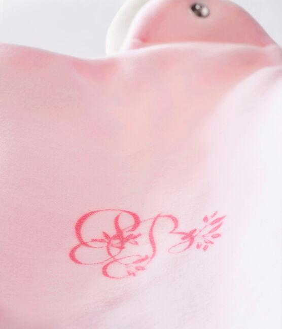 Baby MädchenSchlafsack aus einfarbigem Nicki rosa Vienne