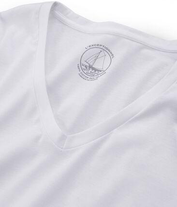 Langärmliges T-Shirt aus Sea Island-Baumwolle für Damen weiss Ecume