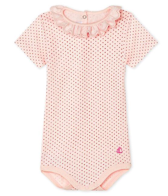 Baby-Body für Mädchen rosa Fleur / rosa Copper