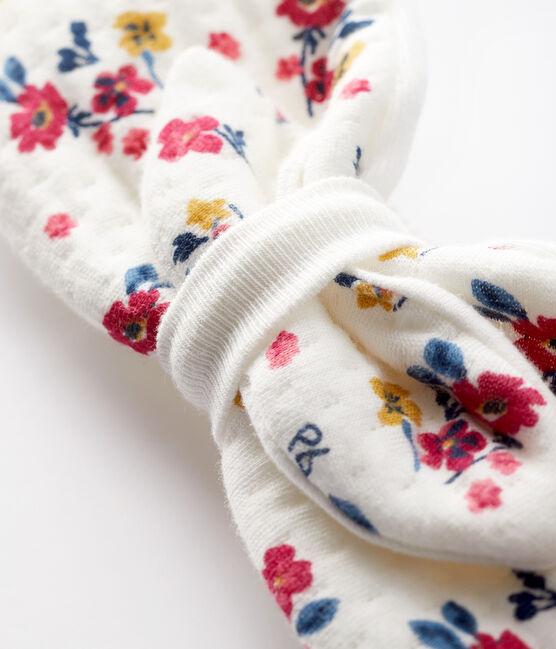 Geblümtes Baby-Haarband für Mädchen weiss Marshmallow / weiss Multico