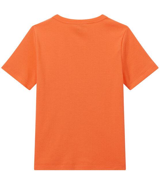 Jungen-T-Shirt mit Brusttasche orange Orient