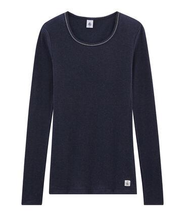 Warmes T-Shirt für Damen blau Smoking