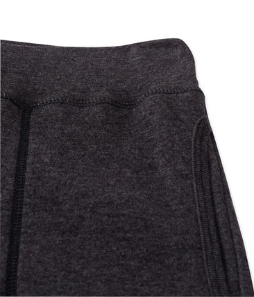 Melierte Damen-Unterhose aus extrafeinem, gedoppeltem Jersey grau City Chine