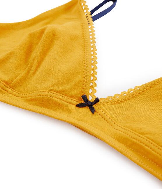 Triangel-BH für Damen gelb Boudor